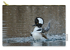 Carry-all Pouch featuring the photograph A Flurry Of Feathers by Fraida Gutovich