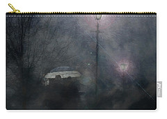 Carry-all Pouch featuring the photograph A Foggy Night Romance by LemonArt Photography