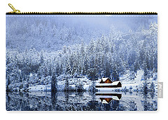 A Foggy Winter Night Carry-all Pouch by Diane Schuster