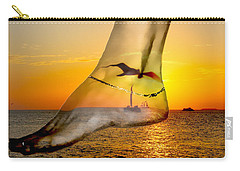 A Foot In The Sunset Carry-all Pouch