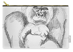 A Friendly Gorilla Carry-all Pouch by John Keaton
