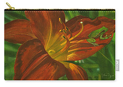 A Frog On A Lily Carry-all Pouch