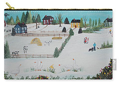 A Gaggle Of Geese Carry-all Pouch by Virginia Coyle