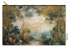 A Garden In Sorrento Carry-all Pouch by Pierre Auguste Renoir