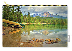 Carry-all Pouch featuring the photograph A Gentle Light At Lake Annette by Tara Turner