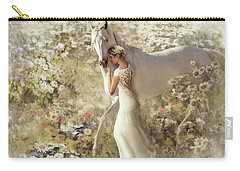 Carry-all Pouch featuring the digital art A Gentle Touch by Melinda Hughes-Berland