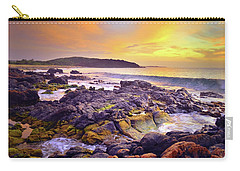Carry-all Pouch featuring the photograph A Gentle Wave At Sunset by Tara Turner
