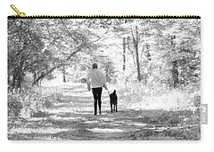 A Girl And Her Dog Carry-all Pouch