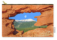 A Glimpse Of The Mighty Rockies Through A Rocky Window  Carry-all Pouch