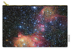 Carry-all Pouch featuring the photograph A Glowing Gas Cloud In The Large Magellanic Cloud by Eso