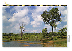 Carry-all Pouch featuring the photograph A Good Place To Fish by Scott Kingery