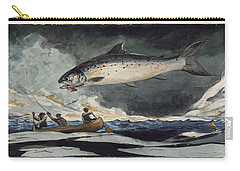 A Good Pool. Saguenay River Carry-all Pouch by Winslow Homer