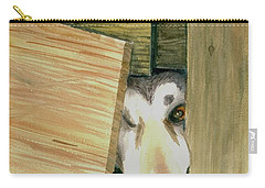 Carry-all Pouch featuring the painting A Great Escape  -variation 2 by Yoshiko Mishina