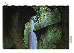 A Green Grotto Carry-all Pouch by Inge Riis McDonald