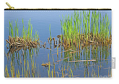 Carry-all Pouch featuring the photograph A Greening Marshland by Ann Horn