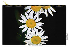 Carry-all Pouch featuring the digital art A Group Of Wild Daisies by Chris Flees