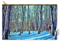 Carry-all Pouch featuring the painting A Grove In Snow by Dave Luebbert