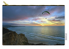 A Hang Glider And A Sunset Carry-all Pouch