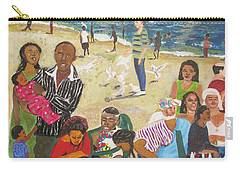 Carry-all Pouch featuring the painting A Heavenly Day - Lumley Beach - Sierra Leone by Mudiama Kammoh
