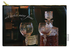 A High Spirited Art Carry-all Pouch by Yvonne Wright