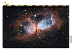 Carry-all Pouch featuring the photograph A Composite Image Of The Swan by Nasa