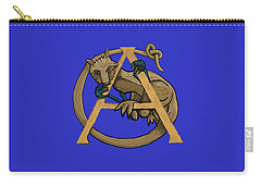 A Is For Alphyn Carry-all Pouch by Donna Huntriss