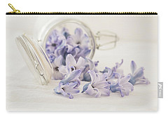 Carry-all Pouch featuring the photograph A Jar Of Purple Sweetness by Kim Hojnacki