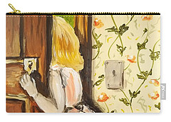 Carry-all Pouch featuring the painting A Journey Begins by Maria Langgle