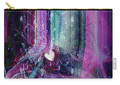 Carry-all Pouch featuring the digital art A Kind Heart by Linda Sannuti
