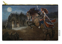 Carry-all Pouch featuring the digital art A Knight's Lady by Melinda Hughes-Berland