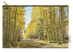 Carry-all Pouch featuring the photograph A Lane Of Gold by Gaelyn Olmsted
