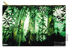 Carry-all Pouch featuring the painting A Light In The Forest by Seth Weaver