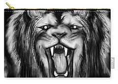 A Lion's Royalty B/w Carry-all Pouch