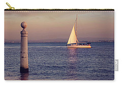 A Lisbon Sunset By The Tagus River Carry-all Pouch by Carol Japp