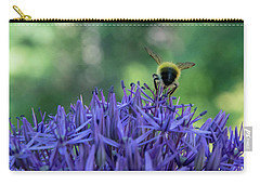 Carry-all Pouch featuring the photograph A Little Bee Hind by Jani Freimann