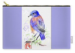 A Little Bird In Blue Carry-all Pouch