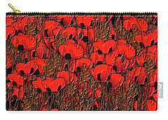 A Little Family Gathering Of Poppies Carry-all Pouch by Sherri's Of Palm Springs