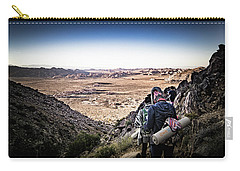 Carry-all Pouch featuring the photograph A Long Walk Through Joshua Tree by T Brian Jones