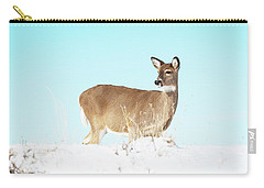 A Lonley Deer In Snow Carry-all Pouch