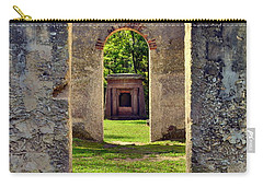 Carry-all Pouch featuring the photograph A Look Through Chapel Of Ease St. Helena Island Beaufort Sc by Lisa Wooten