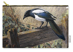 A Magpie Observing Field Mice Carry-all Pouch