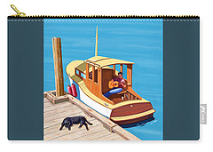 A Man, A Dog And An Old Boat Carry-all Pouch