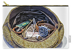 Carry-all Pouch featuring the photograph A Man's Items by Walt Foegelle