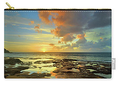 Carry-all Pouch featuring the photograph A Marmalade Sky In Molokai by Tara Turner