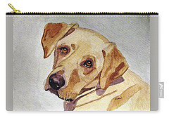 Carry-all Pouch featuring the painting A Mellow Yellow by Angela Davies