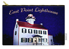 A Merry Christmas At East Point Lighthouse  Carry-all Pouch