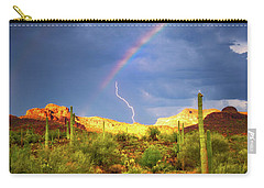 Carry-all Pouch featuring the photograph A Miracle Of Timing by Rick Furmanek