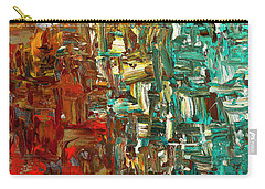 Carry-all Pouch featuring the painting A Moment In Time - Abstract Art by Carmen Guedez