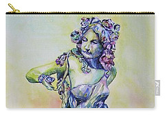 Carry-all Pouch featuring the painting A Moment In Time by Mary Haley-Rocks