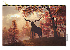 Carry-all Pouch featuring the digital art A Moose In Fall by Daniel Eskridge